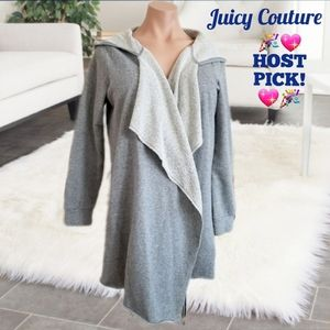 Juicy Couture asymmetrical open jacket